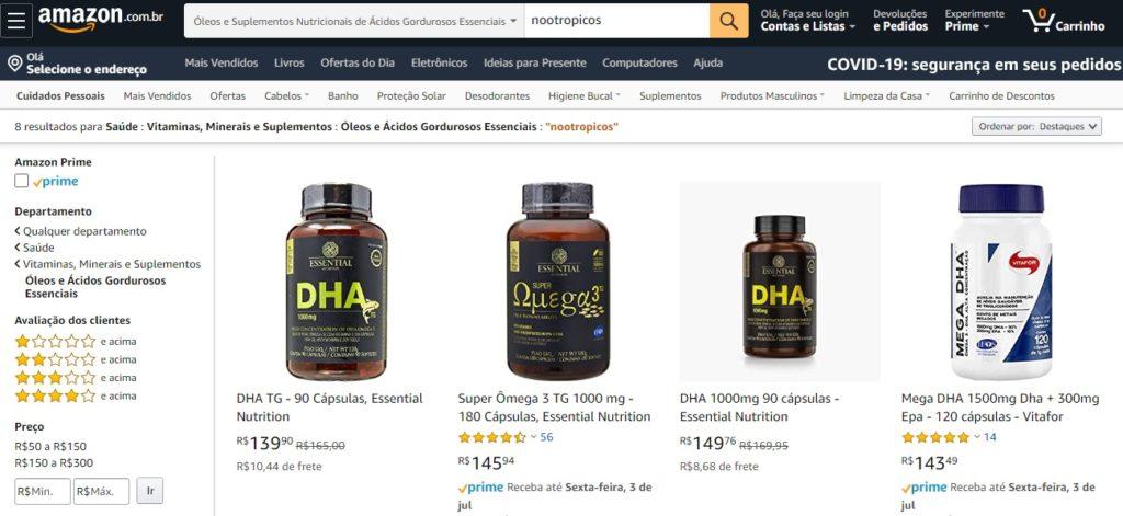 comprar nootropicos online na amazon