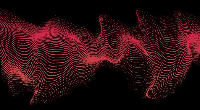 ondas de ruido rosas