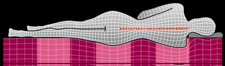 Colchão ortopédico com 7 zonas
